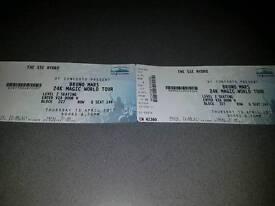 2 bruno mars tickets