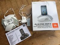JBL On Stage Micro 3 - Portable music loudspeaker for ipod and iphone -White