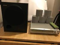 Sony 5.1 surround sound DVD player with speakers and sub. DAV-S500