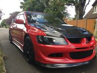 Mitsubishi Lancer Evo 8 420bhp Tracks and Road car Lots of Upgrades 45k miles