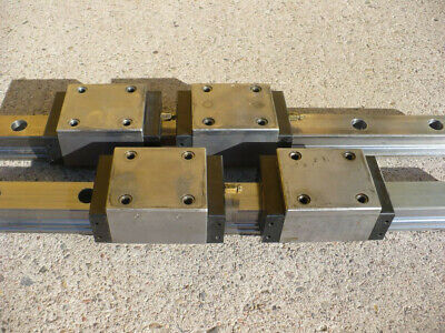 Hurco Bmc-4020 45 Bosch Rexroth Star Linear Block Bearings Rails 1621-42x-10 70
