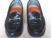 Russell and Bromley all leather black patient loafers. Size 3