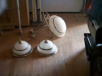 1 DINING ROOM LIGHT AND 2 KITCHEN OR HALL LIGHTS