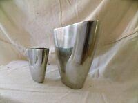 Pair of metal vases