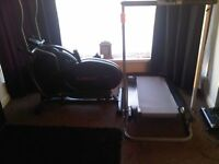 crosstrainer and manual treadmill