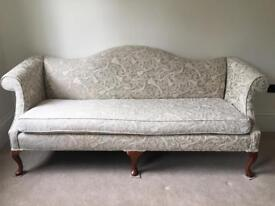 Elegant French Salon Sofa and Chaise bench seat