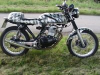 Honda 250 cc cafe racer 38 year old classic 9 months mot £1.000's spent many many new parts.