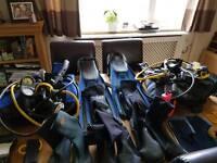 Scuba gear selection