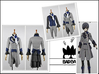 Black Butler 3 Ciel Phantomhive Grey Suit cosplay kostüm ()