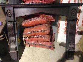 Mahogany type fireplace surround