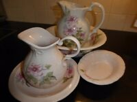 Jugs, Bowl and Soap Dish set