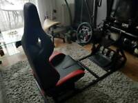 GT Omega ART Simulator Cockpit + Logitech G29 Racing wheel shifter PS4