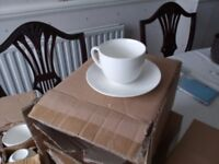 Brand new bone china cups and saucers