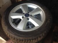 16'inch genuine Ford wheels with winter tyres