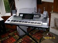 YAMAHA TYROS ONE WITH YAMAHA SPEAKER SYSTEM.