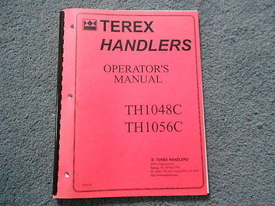 Terex Th1048c Th1056c Material Handlers Fork Lift Operators Owners Manual