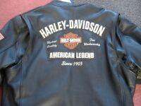 gen gents heavy weight leather harley davidson xl jacket