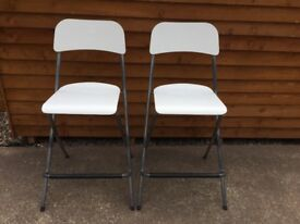 2 x white breakfast bar stools