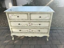 Wooden Painted Chest of Drawers