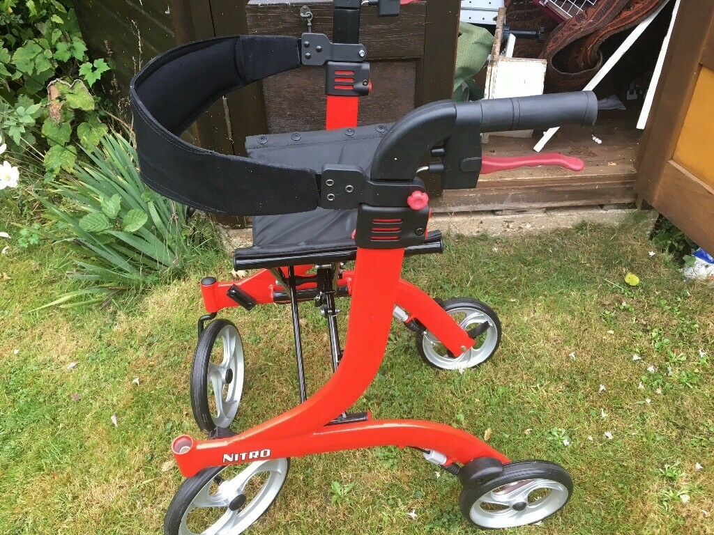 Wheeler Nitro Rollator. 4 wheeled, lightweight, very stable. As NEW