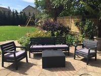 Delano Garden 5 seater lounge set in graphite