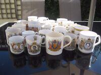 Coronation, jubilee, royal mugs and plates