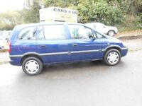 VAUXHALL ZAFIRA 1.6CC 7 SEATER WITH FULL 12 MONTH MOT DRIVE VERY NICE ......