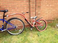 "Trailer Bike - Ammaco Chainlink 20"" Wheel with 6 Gears"