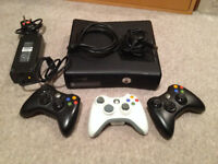 X Box 360 , cables and controllers