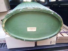 VINTAGE GREEN LLOYD LOOM LINEN BIN LAUNDRY BASKET