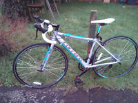"Ladies road bike 17"" frame. Suit height 4'10- 5'3. As new condition."