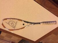 Used - Dunlop Evo Squash Racket - White/Gold/Black - With Cover