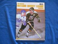 """1991-92 OHL MAJOR JR.""""A"""" HOCKEY YEARBOOK"""