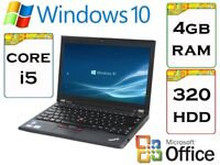 EXCELLENT - Lenovo Thinkpad x230 i5 2.6Ghz 4GB Ram 320gb HDD Windows 10 Laptop