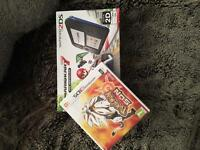 Nintendo 2ds console with Pokemon Sun and Mario Kart 7