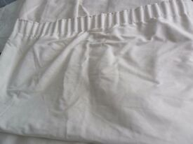 """Cream suede effect lined curtains aprox 48""""wide x aprox 56"""" long"""
