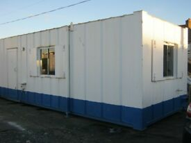 "32ft x 10ft Anti Vandal Portable Cabin Site Office Welfare Unit ""GOOD CONDITION"" shipping containe"