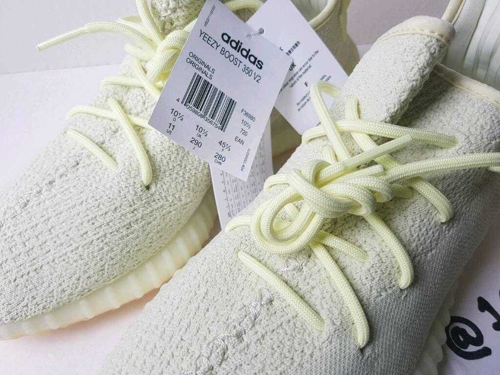 867d308f965da ADIDAS x Kanye West YeezyBoost 350 V2 BUTTER F36980 UK10.5 EU45 1 3 US11  FOOTLOCKER RECEIPT 100sales