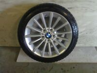 ALLOYS X 4 OF 17 INCH GENUINE BMW 3 SERIES MULTISPOKE FULLY POWDERCOATED INA STUNNING DUTCH SILVER