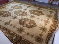 Wonderful original 12' x 9' Louis De Poortere pure wool Afghan 'Kandahar' styled carpet