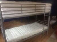 Bunk bed and mattresses new in box