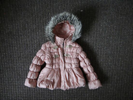 Genuine NEXT girls hooded quilted coat 5-6 Years