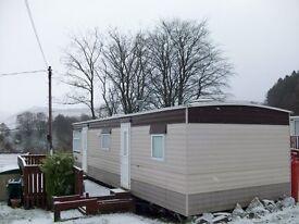 2 Berth Static Caravan in prime location at Glenafton Caravan Park, New Cumnock, Ayrshire for sale