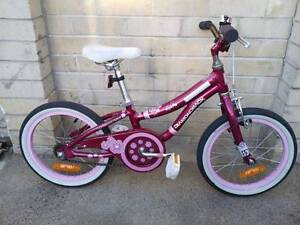 "Girls 16"" pink-purple-white vgc with brakes & bell Wanniassa Tuggeranong Preview"