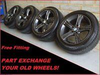 "1650 Genuine 17"" BMW 393 4 3 Series F30 31 Grey Alloy Wheels & Pirelli Tyres"