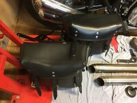 Military style saddlebags for Harley Davidson