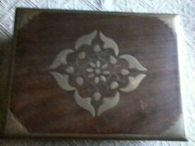 small wooden box for jewery trinkets ect