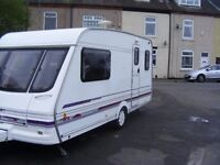 swift challenger 2 berth 1998 + 2 awnings +accessories