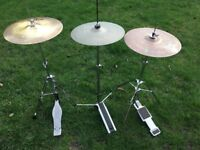 Wokingham Drum Sales - HiHat Stands With Cymbals - Various Options