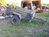 Army military arrow construction trailer, strong towing eye